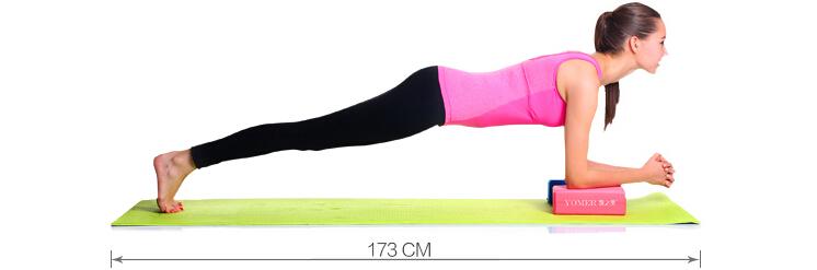 人体与瑜伽垫长度的比例如图