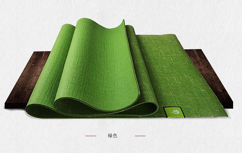 绿色亚麻垫