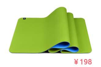 青鸟经典双色瑜伽垫整体展示