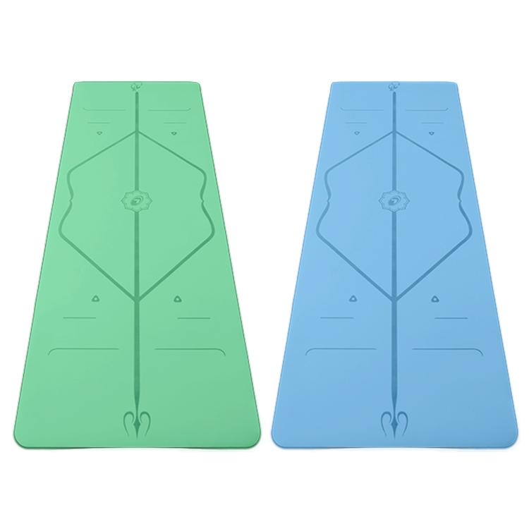 绿色、蓝色垫子展示
