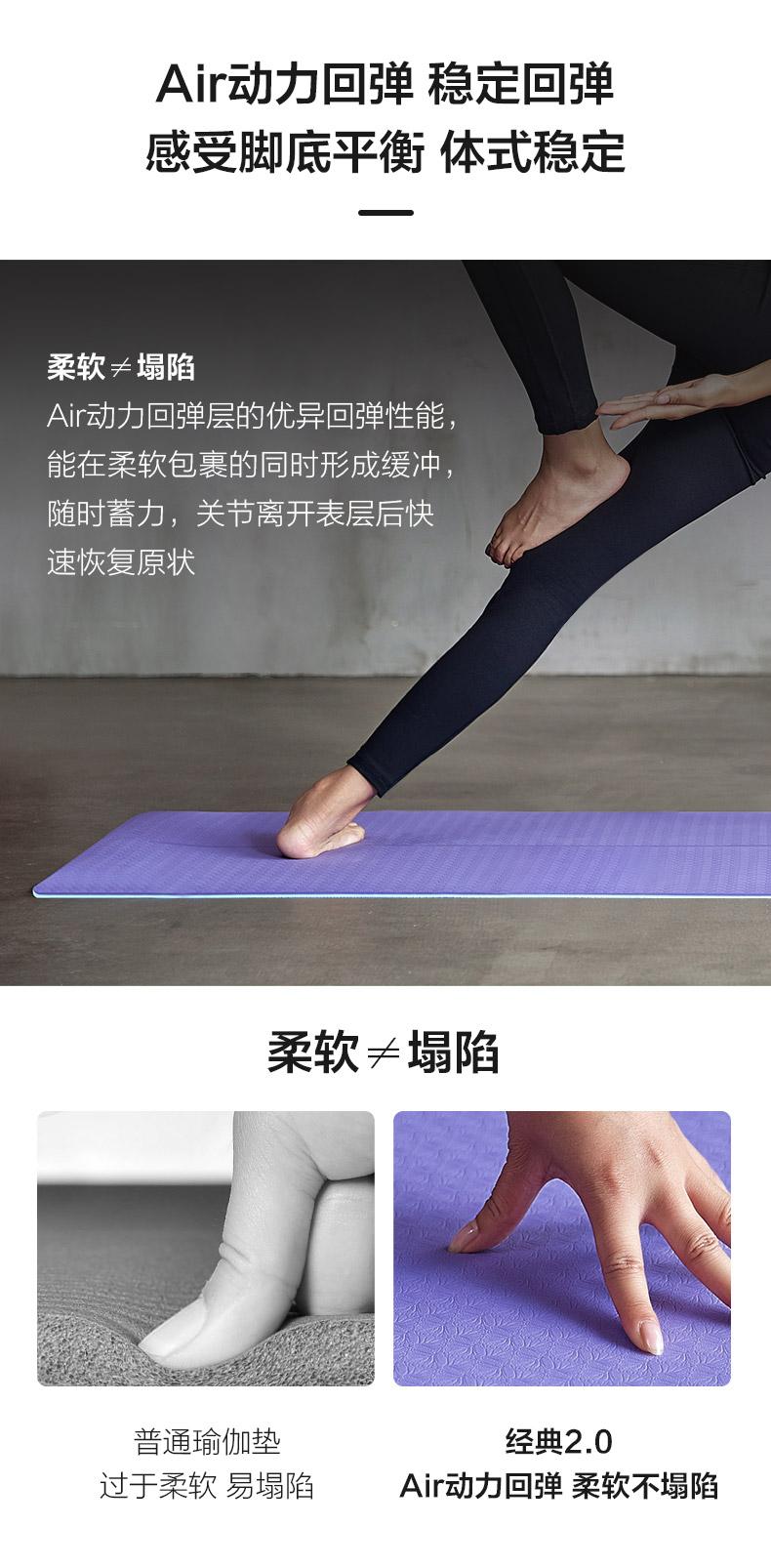 瑜伽垫弹性展示